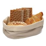 Корзина для хлеба овальная 20х15х7 см. хлопок, бежевая APS /1/