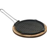 """Сковорода-гриль d=25 см. чугун, черная, на подставке""""ECO"""" LAVA"""