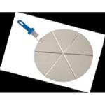 Поднос круглый d=45 см. для пиццы на 8 сегментов с ручкой Gimetal /1/2/
