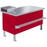 Прилавок холодильный среднетемпературный ПХС-1,55/0,85 (мясной, встроенное холодоснабжение с креплением для перекладины)