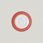 Блюдце круглое, борт - красный d=13 см., для чашки 9cl Bahamas 2