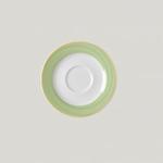 BASA15D57 Блюдце круглое, борт- зеленый d=15 см., для чашки 23cl Bahamas 2