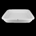 BUGR35 Тарелка прямоугольная 35х30h=6 см., 2-x секционная Buffet