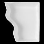 LXDB18 Тарелка прямоугольная (одна длинная сторона волнистая) 18x20x6 см., плоская Buffet