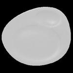 NFNBFP32WH Тарелка для подачи 32х26.5 см., с 2 зонами NeoFusion Sand