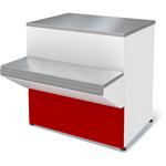 Прилавок Илеть NEW расчетно-кассовый неохлаждаемый (красный)