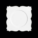 GDSP34 Тарелка квадратная 34 см., плоская White Gold