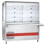 Прилавок-витрина холодильный ПВВ(Н)-70КМ-С-03-НШ вся нерж. с гастроемкостями