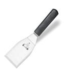 9200T06 Лопатка кондитерская - 12х7 см., нерж.сталь,ручка- пластик,цвет черный
