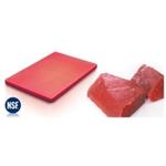 PE60402R Доска разделочная с антискользящими ножками, 60х40 h=2см., пластик,цвет красный