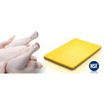 PE60402Y Доска разделочная с антискользящими ножками, 60х40 h=2см., пластик,цвет желтый