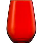 Стакан 397 мл, h 11,4 см, d 8,1 см, цвет красный, Vina Spots