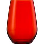 Стакан 566 мл, h 12,7 см, d 9 см, цвет красный, Vina Spots