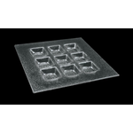Тарелка 200*200 мм. 9-ти секционная прозр. стекло 3D (2020-9044-24-003)