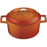 Кастрюля порц. 0,55 л. чугун d=12 см. оранжевая LAVA