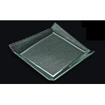 Блюдо квадратное l=250*250 мм. прозр. стекло 3D