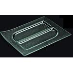 Блюдо прямоуг. l=300*230 мм. прозр. стекло 3D