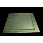 Блюдо квадратное l=500*500 мм. прозр. стекло 3D
