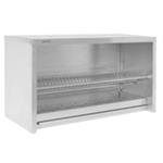 Полка-шкаф настенная для тарелок и кухонного инвентаря открытая ПТО-8*4