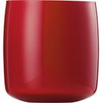 Ваза h 15,4 см, d 14,9 см, цвет красный, Saiku