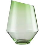 Ваза /подсвечник h 36 см d 27 см, цвет зеленый