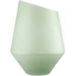 Ваза /подсвечник h 36 см d 27 см, цвет зеленый матовый