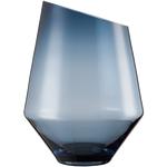 Ваза /подсвечник h 36 см d 27 см, цвет синий