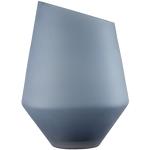 Ваза /подсвечник h 36 см d 27 см, цвет синий матовый