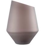Ваза /подсвечник h 36 см d 27 см, цвет коричневый матовый