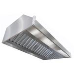 Зонт вытяжной пристенный ITERMA ЗВП-1500х800х350