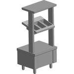 Прилавок для приборов ITERMA МС-600/500-21