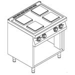 Плита 4 конфорки 900 серии KOVINASTROJ ESK-T49/P 55882