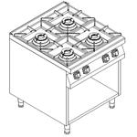 Плита 4 конфорки 900 серии KOVINASTROJ PS-T/49-P 55892