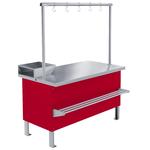 Прилавок холодильный среднетемпературный ПХС-1,0/0,85 (мясной, встроенное холодоснабжение с креплением для перекладины)