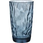 Хайбол «Даймонд»; стекло; 470мл; D=85,H=144мм; синий