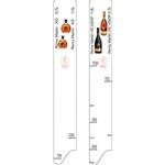 Линейка «Реми Мартан VS,VSOP,XO0.7,1л»; пластик; L=28,B=2см; белый