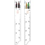 Линейка «Мартини0.75,1л Бакарди0.75,1л»; пластик; L=28,B=2см; белый