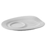 Блюдце «Фруассэ»; фарфор; L=13,B=10см; белый
