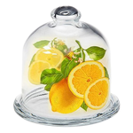 Блюдо для лимона с крышкой d=10 см. h=10,5 см. (54502+43515) Б Бейзик /1028562/ /1/