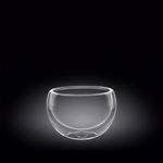 Салатник d=80 мм. 200 мл с дв. стенками Thermo Glass Wilmax