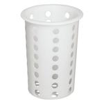 Емкость для столовых приборов (стакан) d=95 мм. h=130 мм. перфор. белый пластик MG /1/17/ ТП