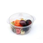 Салатник фуршетный 120 мл. d=74, h=54 мм. пластик 12 шт./уп (81211085) /1/24/, Китай
