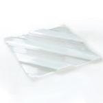 F11-81-01 Презентационная тарелка прозрачная 40х40 см