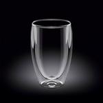 Стакан 400 мл с двойными стенками Thermo Glass Wilmax /1/48/