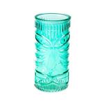 Стакан для коктейлей «Тики» зеленый, 400 мл, 15*7,5 см, стекло