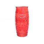 Стакан для коктейлей «Тики» красный, 500 мл, 17*7,5 см, стекло