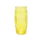 Стакан для коктейлей «Тики» желтый, 500 мл, 17*7,5 см, стекло