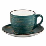 Чайная пара Texture Dark Green Lines 300 мл, 10 см, h 7,5 см, P.L. Proff Cuisine