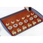 Коврик для выпечки 40*30 см. силиконовый красный (RRUS) /1/