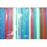 Трубочки кокт. 0,5*14 см. 400 шт/уп. цветные Mini /1/50/